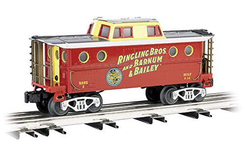 Bachmann Industries Ringling Bros. and  Barnum & Bailey N5C Porthole Caboose 2 O Scale Train -