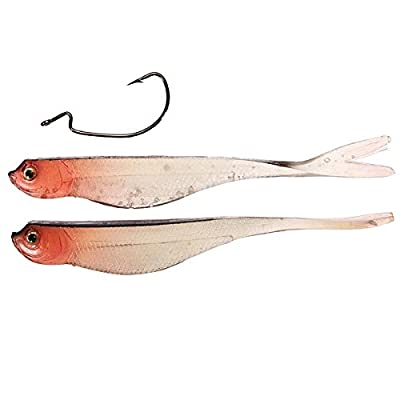 2PCS Soft Bait Bass Fishing Lure Bionic False Lures With Crank Hook