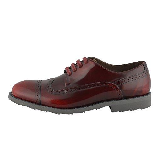Dolce & Gabbana Man Vinrött Vingspets Läder Oxfords Skor Burgundy
