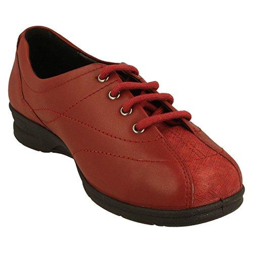 femme Combi Sandales Red Compensées Padders S6F1HqExF