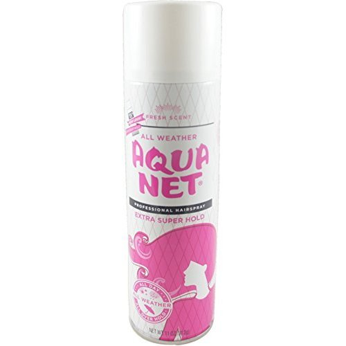 Aqua Net Professional Hair Spray Extra Super Hold Fresh Fragrance 11 oz (Pack of 9)