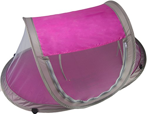Baby Travel Bed, Travel Tent, Portable Folding Baby Bed, Mosquito Net Portable Baby Cots, Newborn Foldable Crib (Hot Pink) with UV Protection & Anchor Straps by Cobei Homegoods by Cobei Homegoods