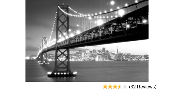 Amazon com pyramid america san francisco gate bridge in black and white photography poster print 24 by 36 inch black and white pictures posters