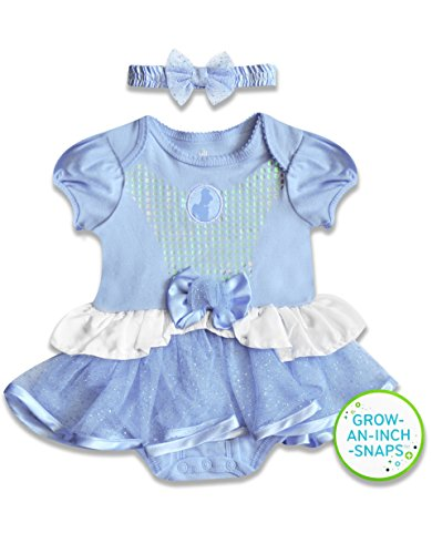 [Disney Baby Baby-Girls Infant Cinderella Dress with Headband, Blue, 9 Months] (Cinderella Dress For Toddler)