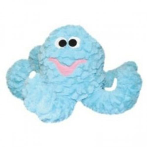 Patchwork Pet Pastel Blue Octopus 8-Inch Squeak Toy for Dogs, My Pet Supplies