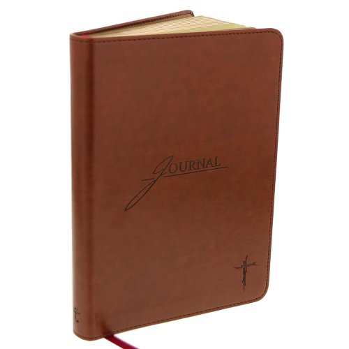 Saddle Tan Flexcover Journal with Cross (Lined Saddle)