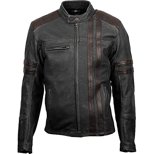 ScorpionExo 1909 Men's Leather Motorcycle Jacket (Brown, Large) (Best Leather Sportbike Jacket)