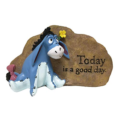 Eeyore Garden Rock, Outdoor Garden Rock, Classic Winnie-The-Pooh Collection, Hand-Painted, Stands 5 Inches Tall by 7.5 Inches Wide.Official Disney Licensed Product