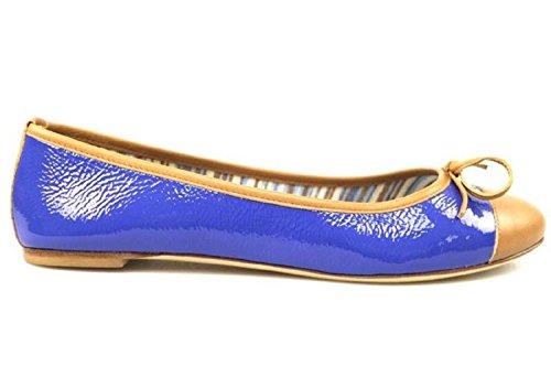 Chaussures Femme 18 KT by DANIELE ANCARANI ballerines marron bleu cuir verni cuir AR24