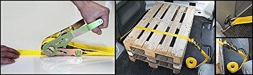 4 x correas de amarre de trinquete 5 x 800 cm 2 teilig asegurar la carga de seguridad: Amazon.es: Bricolaje y herramientas