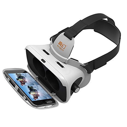 """RITECH VMAX Virtual Reality Headset for 4.7-6.0 """" Android IOS Smartphones VR Glasses for Samsung Galaxy S8"""