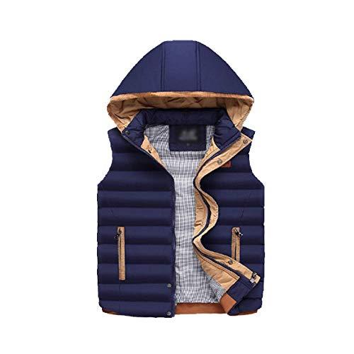 Winter Autumn Stylish Warm Wild Down Vest and Darkblue Zipper Men's DYLBD 0qwETd0