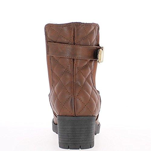 Stivaletti scarpe nere donne raddoppiate a tacco 3cm