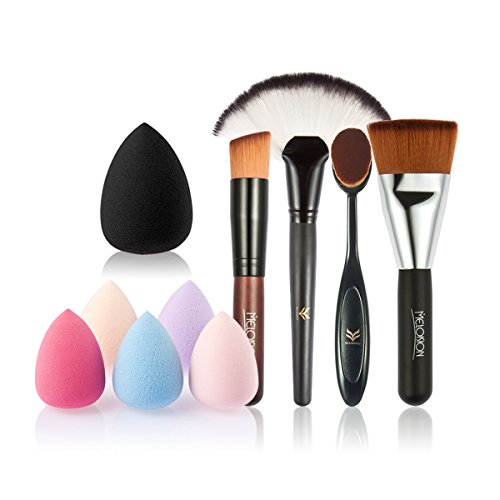 Tinksky Makeup Fan Shaped Foundation Brushes