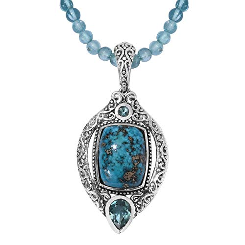- Persian Turquoise Paraiba Apatite Pendant Necklace for Women Jewelry 20