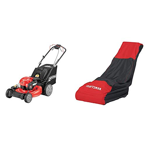 Craftsman M310 163cc Briggs & Stratton 725 exi 21-Inch 3-in-1 RWD Self-Propelled Gas Powered Lawn Mower with Bagger With Craftsman Walk Behind Lawn Mower - M310 Wheels