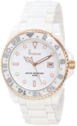 Freelook Women's HA5109RG-9 White Ceramic Band Rose Gold Case And Index Watch