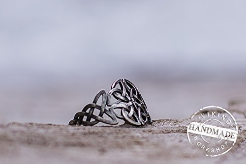 Cetic Ornament Ring Handmade Sterling Silver Celtic Ring (Knot Cetic)