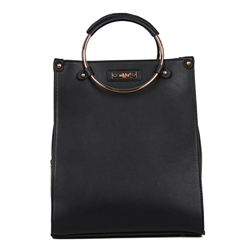 Satchel Smart Lunch Handbag For Women With Insulated Bottom Compartment