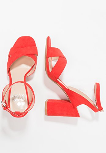 Even&ODD Sandals for Women - High Heel Sandals with Ankle Strap - Strappy Block Heels Made of Faux Leather - Open Toe Summer Shoes Orange LzD3tk9lu