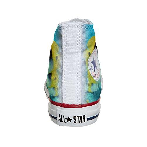produit Converse Chaussures Customized colorés Coutume poissons artisanal vq1pwq