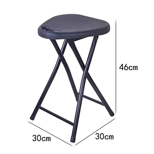 - Folding Stool Plastic Thick Casual Portable Small Stool Chair Household Bathroom Outdoor (30cm30cm46cm),Black