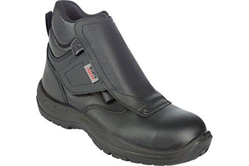 Sicherheitsstiefel S3 HRO Schweißer schwarz - Schuhe EN ISO 20345 mit Durchtrittschutz S3 - Arbeitsschuhe wasserabweisend S3 - Gr. 45