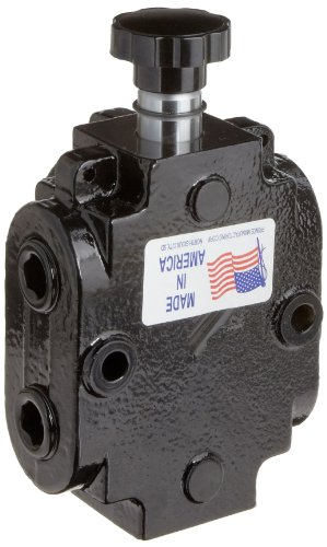Prince DS-4A1D Directional Control Valve, Monoblock, Cast Iron, 1 Spool, 6 Ways, 2 Positions, Knob Handle, 2500 psi, 40 gpm, 3/4'' NPT Female by Prince Manufacturing (Image #3)