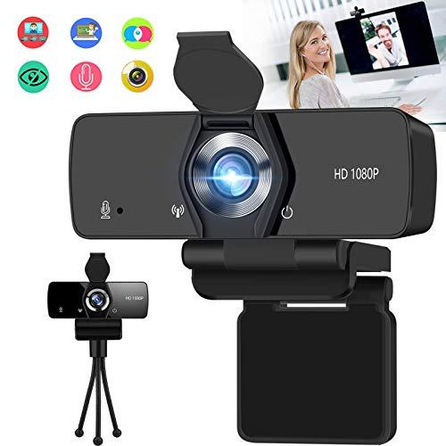 Burxoe Webcam with Microphone 1080P HD Streaming Web Camera for Desktop Computer Laptop PC USB Camera