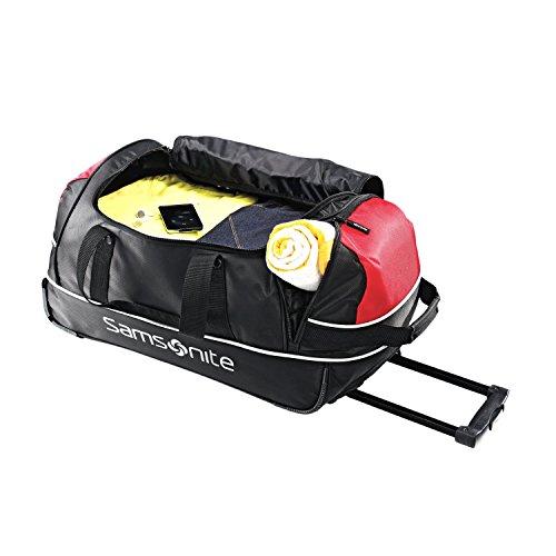 Samsonite Luggage Andante Wheeled Duffel, Black/Red, 22 Inch