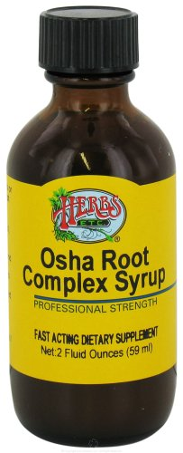 HERBS ETC. Osha Root Throat Syrup, 2 Ounce