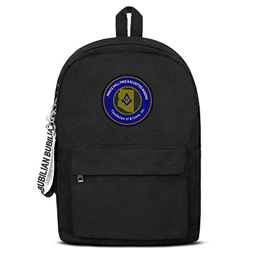 WJINX Prince Hall Masons Foundation Print School Bag Unisex Durable Bookbag 16.5
