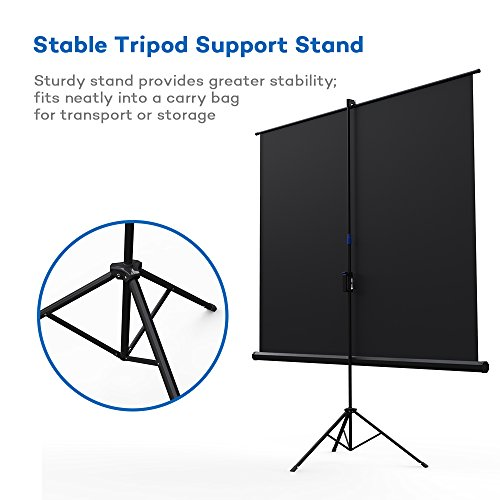 Projector Screen with Stand, TaoTronics Indoor and Outdoor Movie Screen 100 Inch Diagonal 4:3 with a Premium PVC Matte Design (Wrinkle-Free, Easy to Clean, 1.1 Gain, 160 Degree Viewing Angle) Photo #2