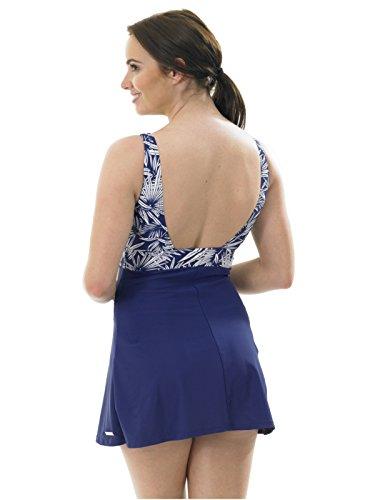 Ladies Hot Honi hojas imprimir falda Bañador para Swimdress