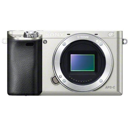 Sony Alpha a6000 Interchangeable Lens Camera - Body only (Silver) (Certified Refurbished)