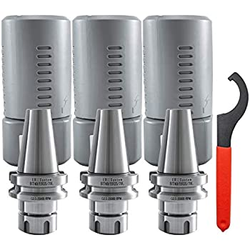 """Hardened 25000RPM Accuracy 100mm 3pcs BT40 ER25 Collet Chuck Tool Holder 4/"""""""