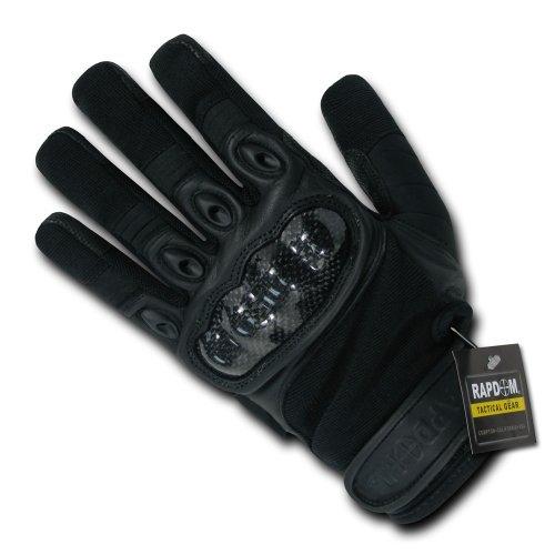 Rapdom Tactical Carbon Fiber Knuckle Gloves, Black, (Carbon Fiber Gloves)