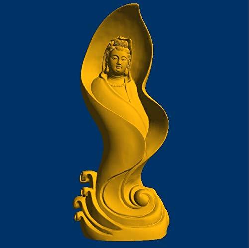 Graven 3D Model Relief/Computer Sculpture STL File Format Goddess of Mercy_4