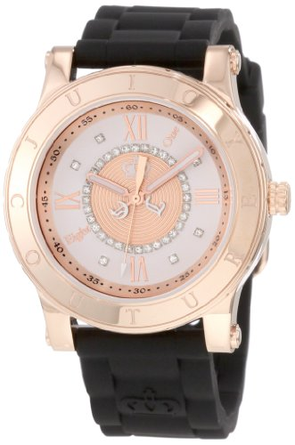 (Juicy Couture Women's 1900834 HRH Black Jelly Strap Watch)