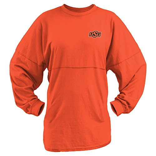 Three Square by Royce Apparel NCAA Oklahoma State Cowboys Junior's Coastal Sweeper Jersey, Orange, X-Large (Oklahoma State Square)