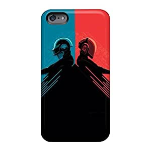 Bumper Cell-phone Hard Cover For Apple Iphone 6 Plus (Ios1742dIox) Support Personal Customs Colorful Daft Punk Red And Blue Skin