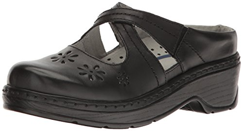 Klogs USA Women's Carolina Clog,Black Smooth,10 M US by Klogs