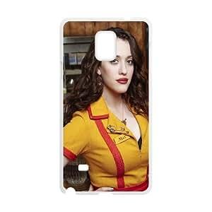 Samsung Galaxy Note 4 Cell Phone Case White 2 Broke Girls Kat Dennings JSK659002