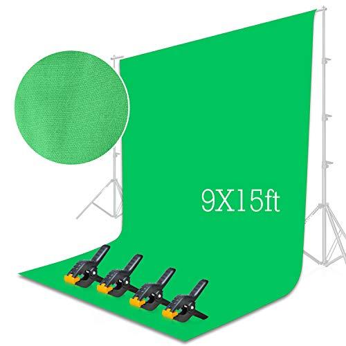 Emart Green Backdrop Background Screen 9 x 15 ft Muslin Photo Video...
