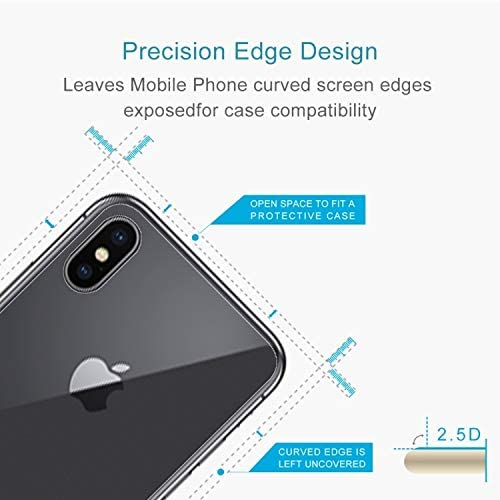 WanShiHengTong Phone Protection GGR 100 PCS for iPhone X 0.3mm 9H Surface Hardness 2.5D Transparent Tempered Glass Back Screen Protector HD