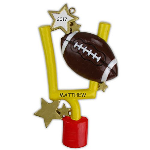 Personalized Football Sports Christmas Ornament