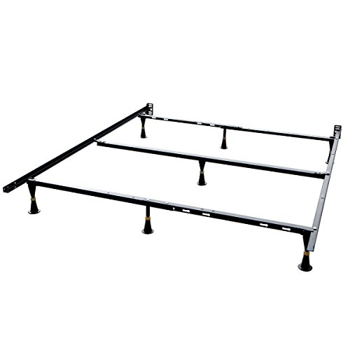 Barton 7-Leg Adjustable Metal Bed Frame Support, Twin/Full/Queen, 7ft by Barton