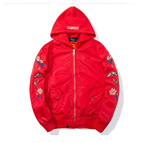 Uomo Red Vhkhfwd Da Con Hat Giacca Harajuku Ricamo 0w4OEwZ