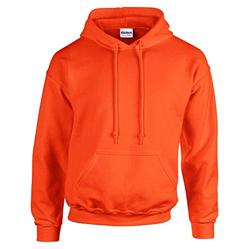 shirt Sweat Capuche À Hooded Gildan Homme Sweatshirt Orange Heavyweight qvgwI6