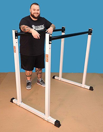 "Gymnastics Parallel Bar, (2) Adjustable Heights with 2"" dia Parallel Bars, 300lb Capacity – Made in the USA. by TDS"